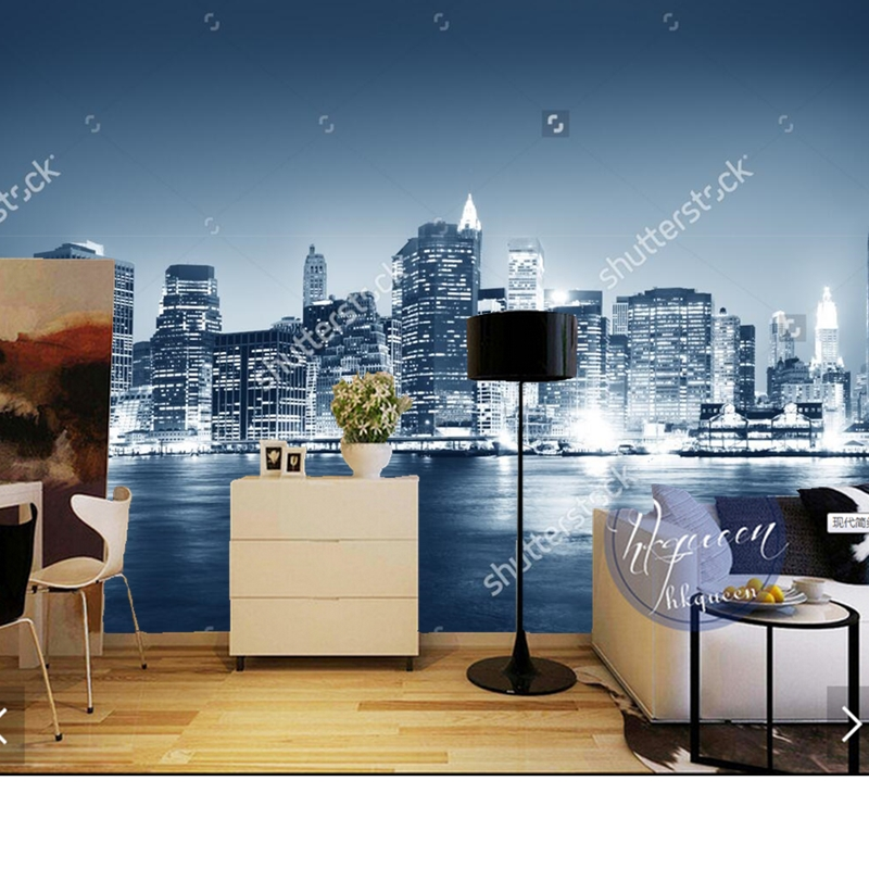 Custom landscape wallpaper,Night New York City,3D photo mural for living room bedroom wall background wall waterproof wallpaper