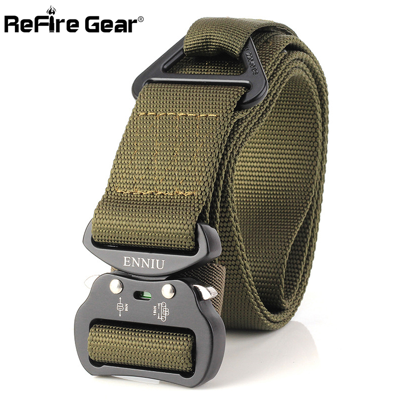 Men's Belts Humble Refire Gear Swat Military Equipment Tactical Riggers Belt Men Quick Release Nylon Webbing Belts Us Army Combat Waist Belt 3.8cm