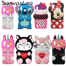 For Huawei P Smart 2019 / Honor 10 Lite 3D Cartoon Animal Soft Silicone Case