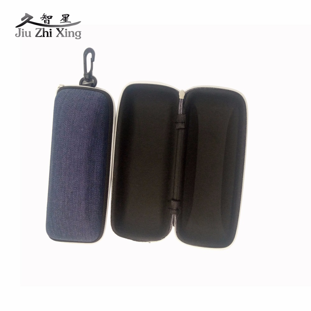 JIU ZHI XING New Arrival Portable Zipper Sunglasses Hard Eye Glasses Case Eyewear Protector Box Bag
