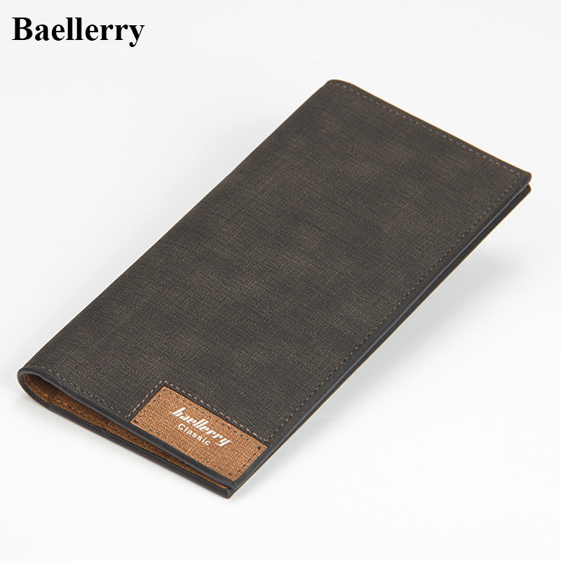 Slim Leather Long Wallets Men Casual Hasp Purses Male Credit Card Holders High Quality ID Holder Money Clutch Bags Famous Brand 2016 famous brand new men business brown black clutch wallets bags male real leather high capacity long wallet purses handy bags