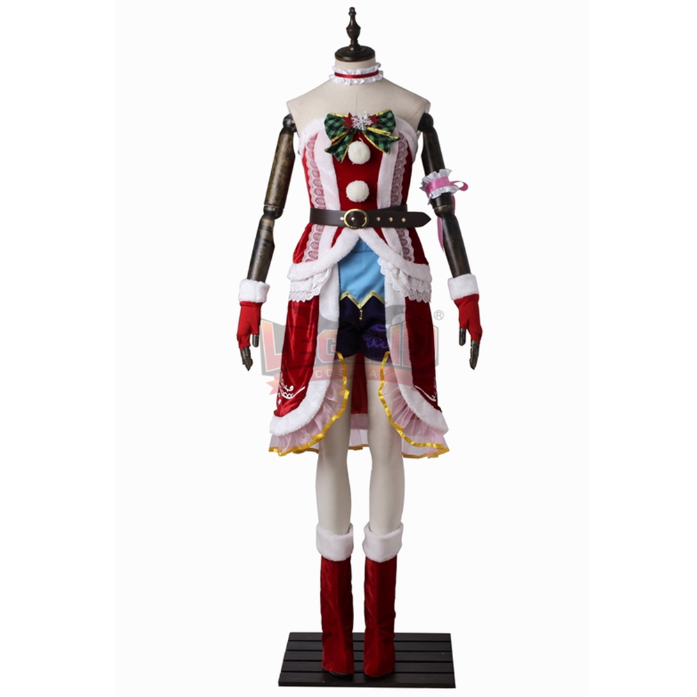 The IDOLM@STER Cinderella Girls Eve Santaclaus Cosplay adult custom made Halloween costume Christmas dress girl costume