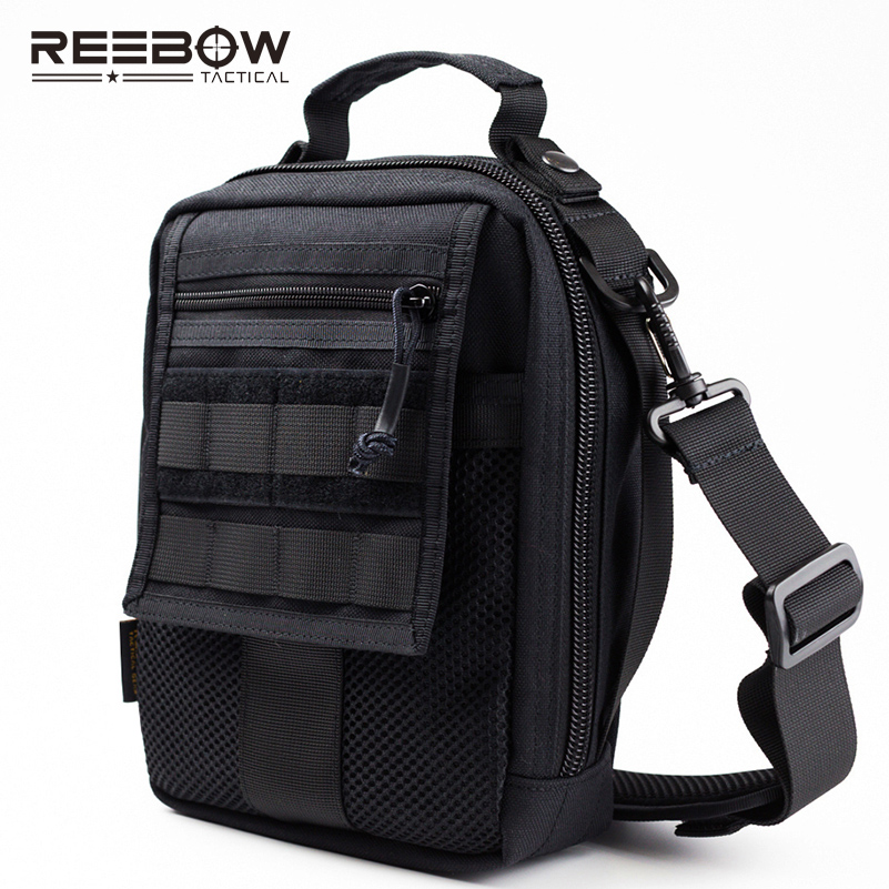 REEBOW TACTICAL Military Outdoor Molle Sling Pack Sports Jogging Gym 1000D CORDURA Multi-functional EDC Messenger Bag Army molle military combat slr camera bag multi functional army combat single shoulder messenger bag made of cordura nylon 1000d