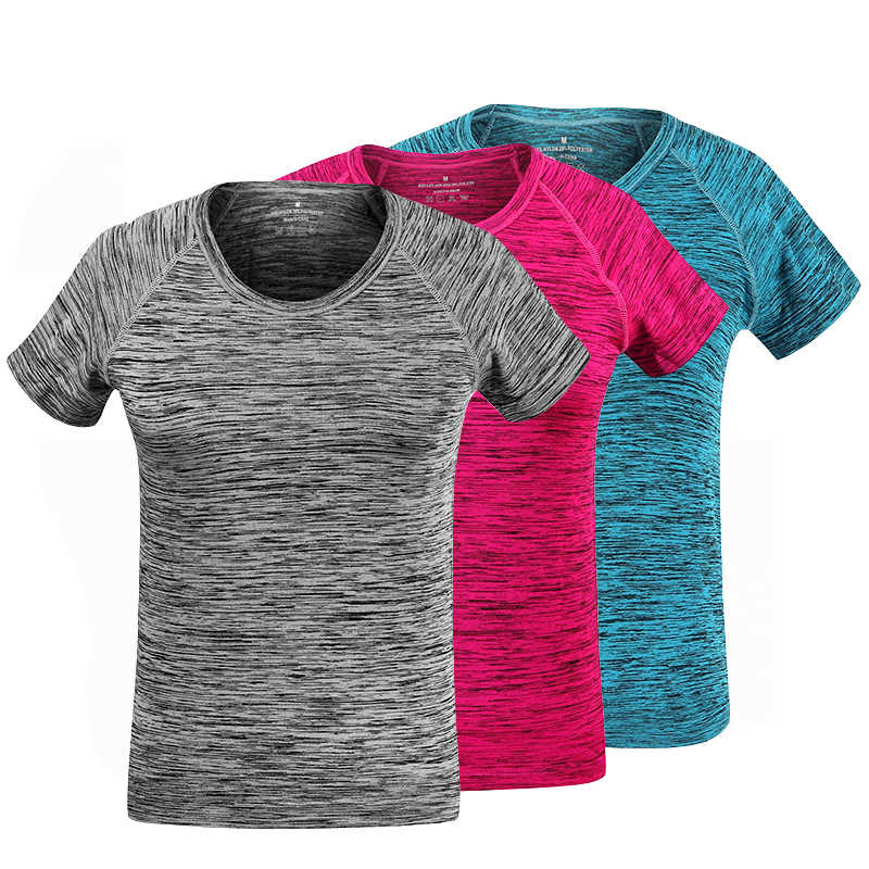 04ee590d4e4 Quick Dry T-Shirt Women Outdoor Sport Breathable Short Sleeve T-shirt High  Quality Women Gym Running Tee Shirt Female Yoga Shirt