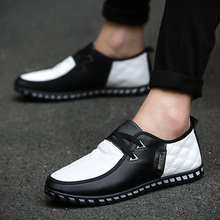 Hot Sale Zapatos Hombre Brand 2016 NEW Brand Soft Leather Casual Men's Shoes Matching Autumn Flat Men TOP Quality Shoes Men