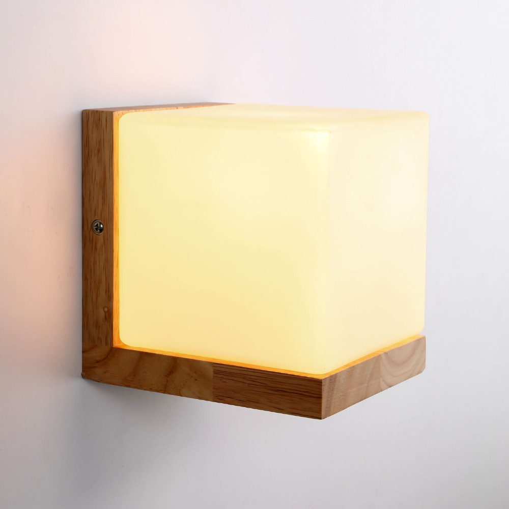 Retro Wall Lamp American Country Wall Light Wood Wall Sconce Opal Glass Luminia for Bed Room Living Room 110-240V Loft Lamp american country retro industrial loft living room modo living room wall lamp bedside lamp wall lamp glass beanstalk study