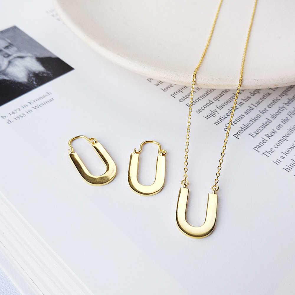 925 collier en argent Sterling fer à cheval femme en forme de U clavicule initiale U collier Graduation et cadeau d'anniversaire pour les amoureux de cheval