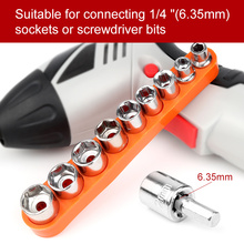 9Pcs Socket Adapter 5-13MM Wrench Head Set 1/4  Connecting Combination Car Repair Tools Chrome Vanadium Steel