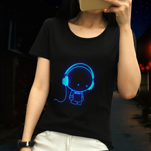 100% Cotton Womens Naruto T Shirt Luminous (20 styles)