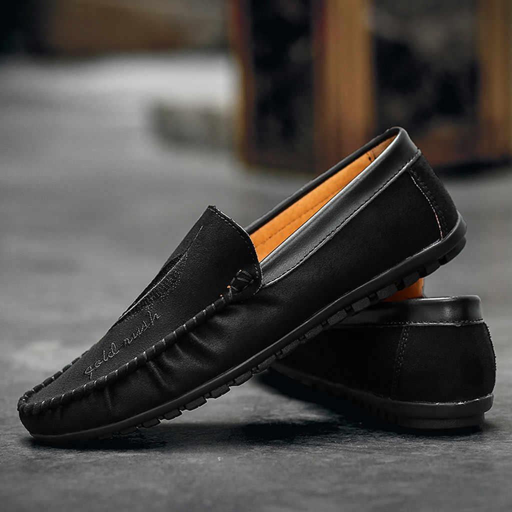 Düz renk turuncu loafer'lar erkek fırçalama yaz Retro tembel ayakkabı rahat vahşi bezelye ayakkabı Slip-on Flats erkek büyük chaussure homme