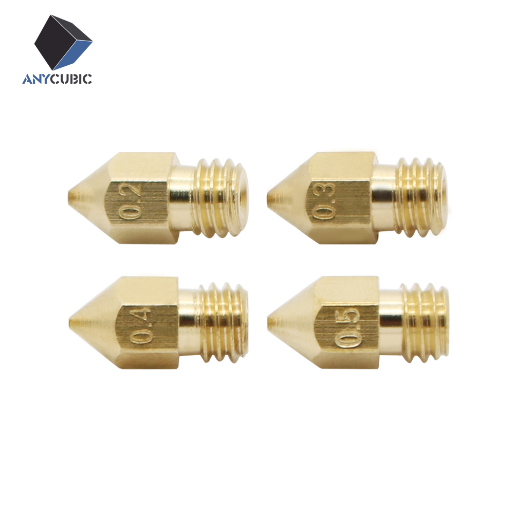 5 unids mk8 Boquilla hotend Cabezal De Impresión De 1.75 MM filamento para impre