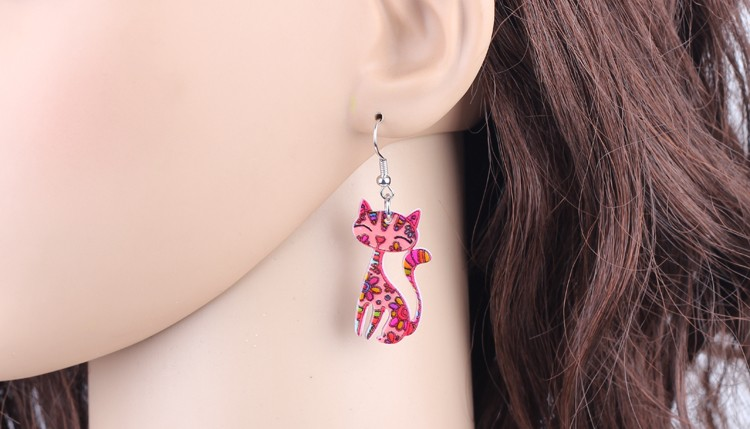 Acrylic Long Cat Earrings