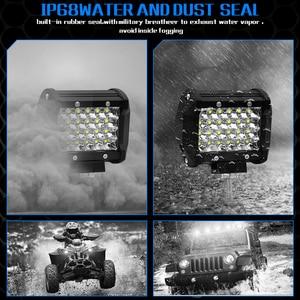Image 3 - CROSSFOX Auto 36W 60W Arbeitsscheinwerfer 72W 120W LED 240W 300W Auto Arbeit Licht Bar für Offroad Motorrad 4x4 ebenen Traktor Boot Licht