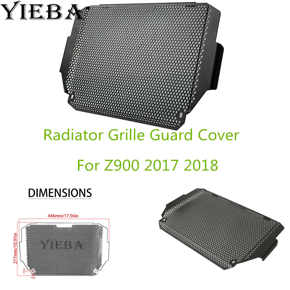 For KAWASAKI Z900 z 900 2017 2018 Black Motorcycle stainless steel Radiator grille guard protection cover in hot sale best priceFor KAWASAKI Z900 z 900 2017 2018 Black Motorcycle stainless steel Radiator grille guard protection cover in hot sale best price