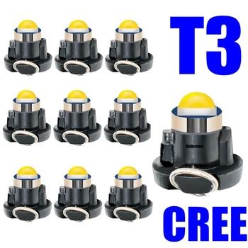 10 sztuk T3 LED Super Bright wysokiej jakości LED samochodów pokładzie Instrument lampa panelowa Auto Dashboard ocieplenie wskaźnik światło klinowe 10X tanie i dobre opinie RAISE STAR CN (pochodzenie) Światła instrumentów Other 12 v Uniwersalny