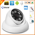 48 v PoE HD 720 P 960 P Câmera De Segurança IP Full HD 1080 P 25fps 8 pcs Matriz de LED Anti-Vandalismo Câmera IP Ao Ar Livre Indoor