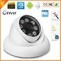48 v PoE HD 720 P 960 P Full HD 1080 P 25fps Matriz de LED de Cámaras de Seguridad IP 8 unids Anti-Vandalismo de Interior Al Aire Libre Cámara IP