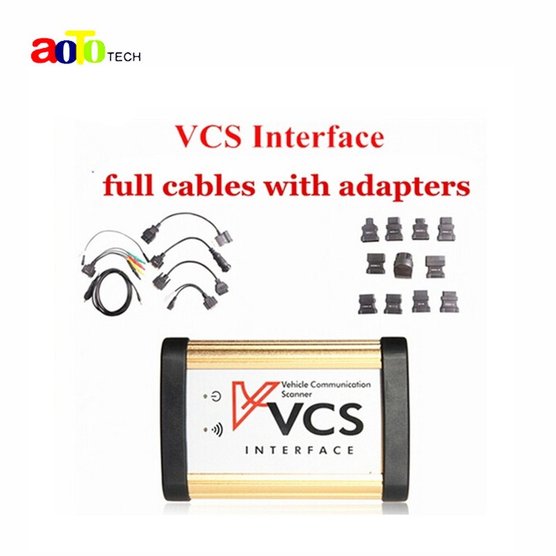 imágenes para 2017 Más Reciente VCS de Comunicación Del Vehículo VCS DEL Interfaz DEL EXPLORADOR de VCS Interfaz de Escáner con los adaptadores de diagnóstico del coche herramienta