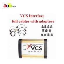 2017 Последним VCS Связи Корабля Интерфейс Сканера с Полным адаптеры VCS СКАНЕР VCS Интерфейс автомобиля диагностический инструмент