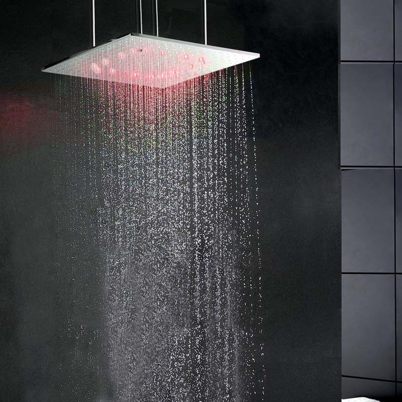 pommeau douche pluie chambre by hansgrohe france plafond de douche ciel de pluie cascades. Black Bedroom Furniture Sets. Home Design Ideas