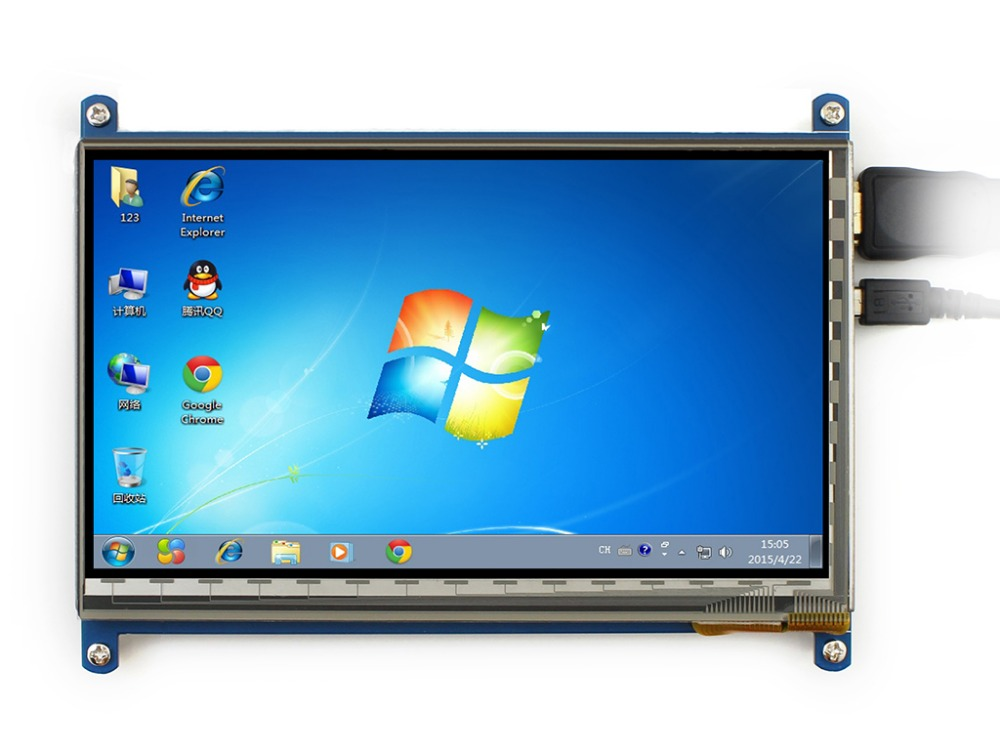 Raspberry pi 3 LCD display touch screen 7inch HDMI LCD (B), supports various systems modules micro pc 7inch hdmi lcd c raspberry pi 1024 600 capacitive touch screen display supports bb black&banana pi pro various