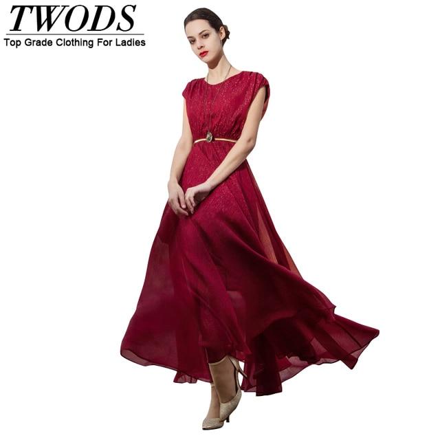 Vestidos rojos largos de seda