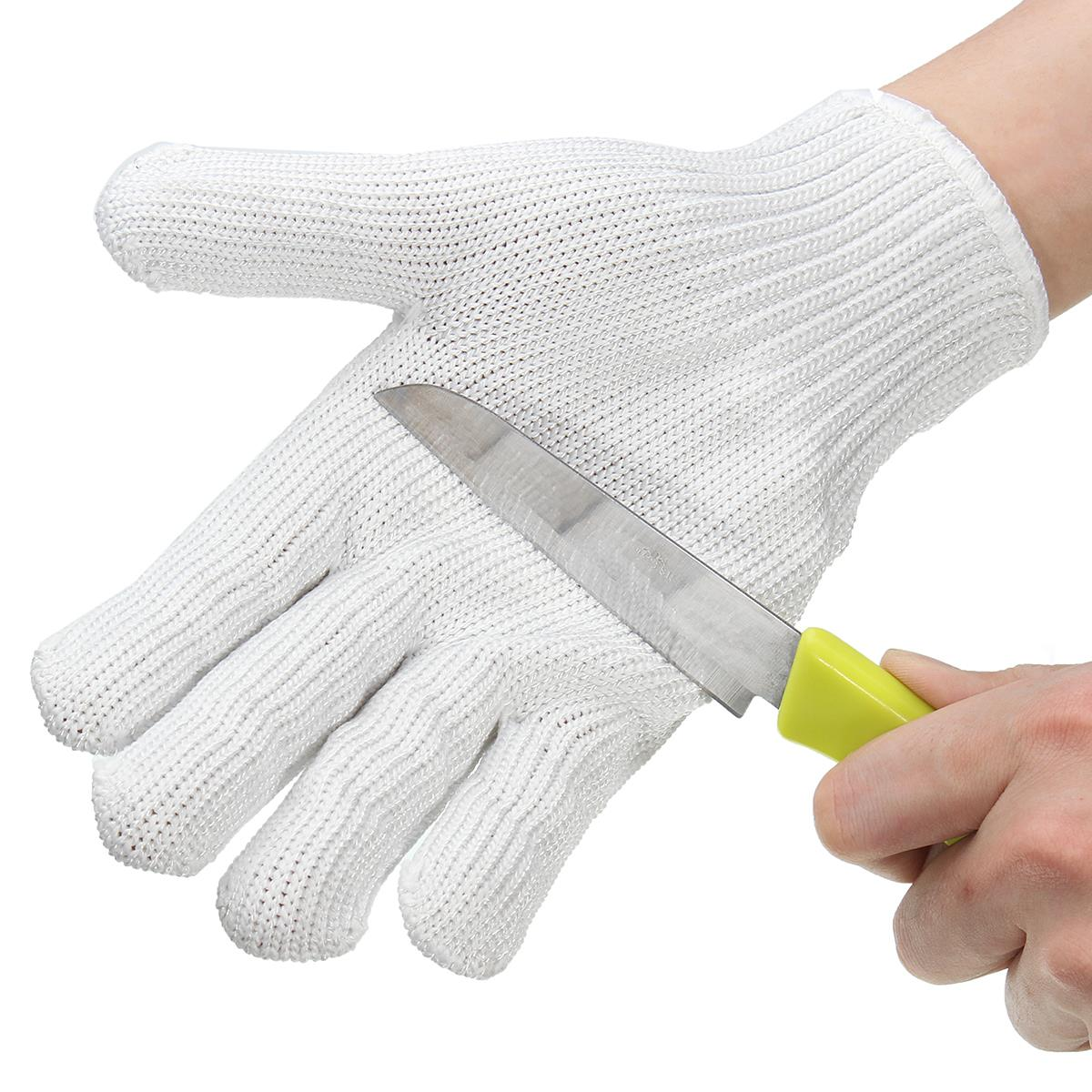 Leather work gloves ireland - Cut Resistant Anti Cutting Gloves Wearable Anti Glass Scratches White Wire Work Gloves Safety
