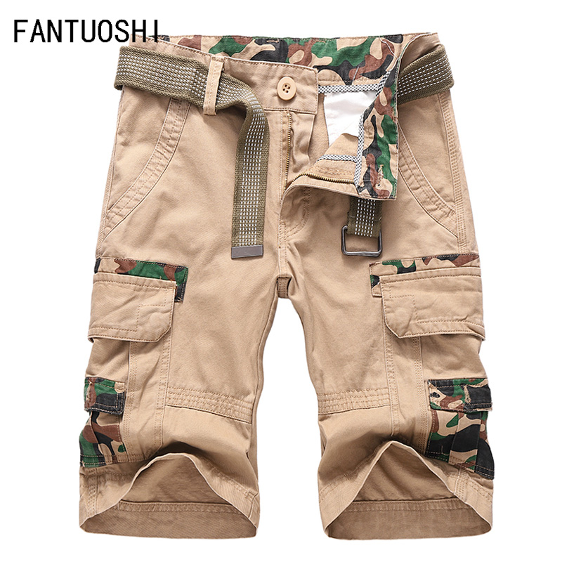 2019 New Cargo Shorts Men Cool Summer Hot Sale Cotton Casual Short Pants Brand Clothing Work size 38
