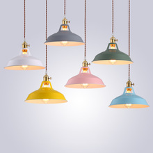 лучшая цена Modern LED Pendant Lights Multicolour Dining-room Restaurant Lamp Switch Pendant  Lamps Colorful Home Decration Lighting E27 led