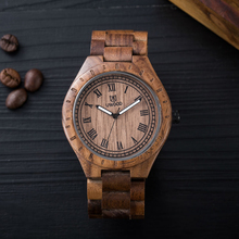 Brand Analog Luxury Fashion Wood Watch for Men Newest Quartz Watch Maple Walnut Wooden Wrist Watch