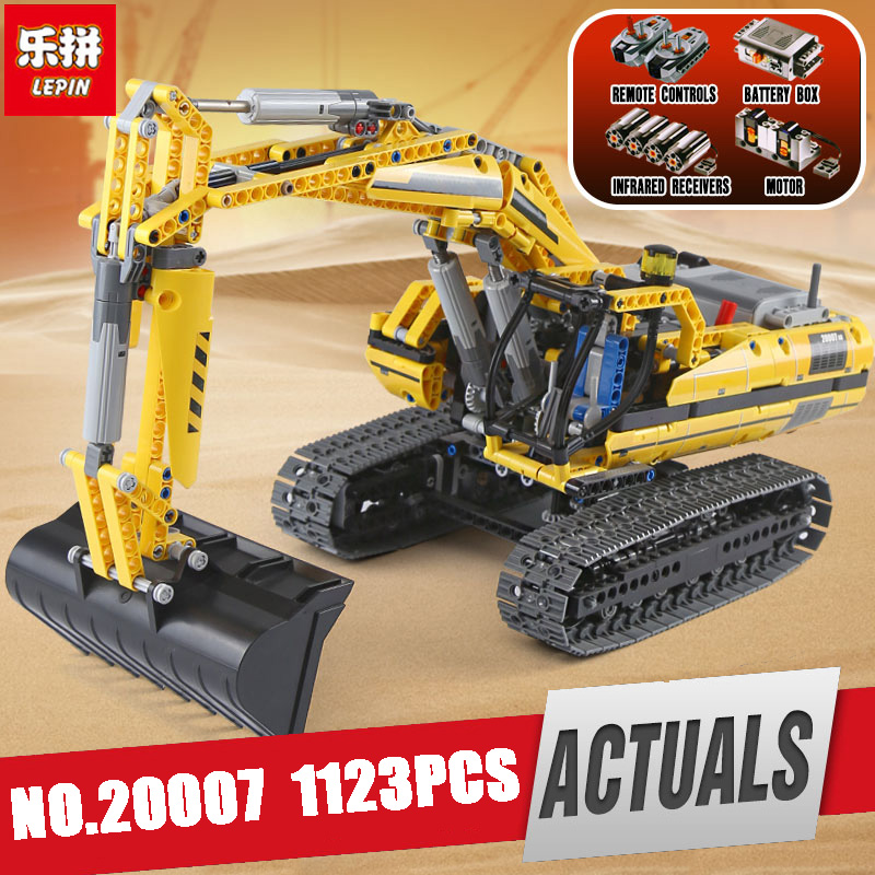 DHL LEPIN 20004 20006 20007 20008 20015 Technic series excavator Model Building Kit Blocks Brick Compatible Legoinglys 8043 toys 196pcs building blocks urban engineering team excavator modeling design