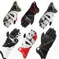 Venta caliente a estrenar alpino gp pro guantes llenos del dedo guantes de moto de cuero genuino de conducción luva moto motocross guantes estrellas