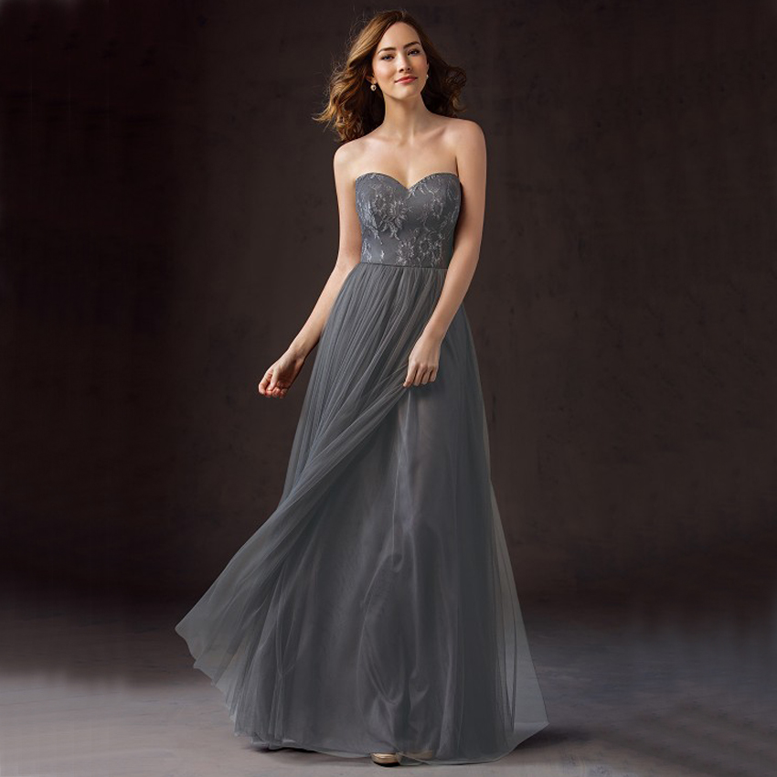 Popular Dark Grey Bridesmaid Dresses-Buy Cheap Dark Grey ...