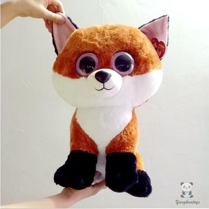 Big Eyes Red Foxes Doll Toys Pillow TY Stuffed Animals Gifts Men And Women Large Dolls Toy 45cm стоимость
