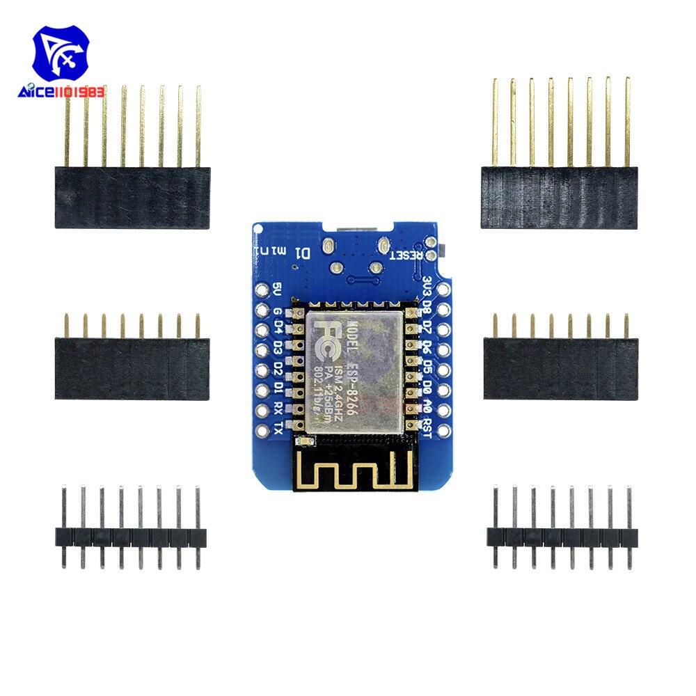 Diymore ESP8266 ESP-12E ESP-12F CH340 CH340G For Arduino WeMos D1 Mini WIFI Wireless Development Module D1 Mini NodeMCU IOT