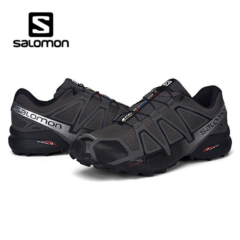 Newest Salomon Men Shoes zapatos hombre Speed Cross 3 CS III CS 4 Sport  Sneakers Men Black Grey Red Speedcross Fencing Shoes 797b4d554bad