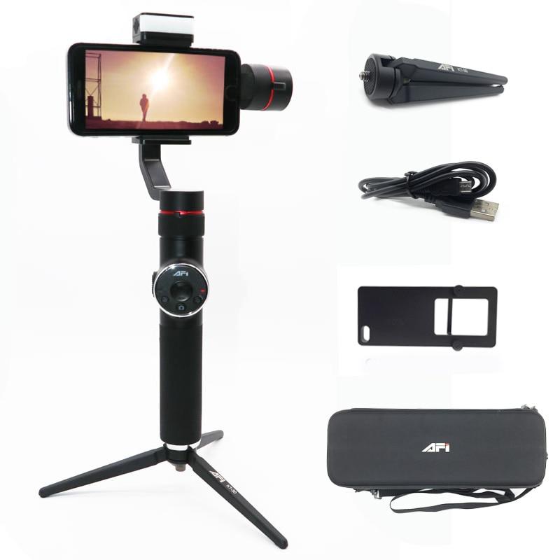 AFI V5 Estabilizador Para Telefone Selfie Varas 3-Eixo Cardan Handheld Estabilizador de Smartphones telefone Celular Para O Iphone X 8 7 Samsung