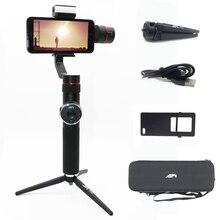 Afi v5 estabilizador para celular, estabilizador de cardan para selfie com 3 eixos, para celulares iphone x 8 7 samsung