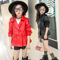 Winter Jacket for Girls 2018 Brand Unisex Thick Leather Jacket Boys Coats Children Toddler Infant for Kids Baby Clothes