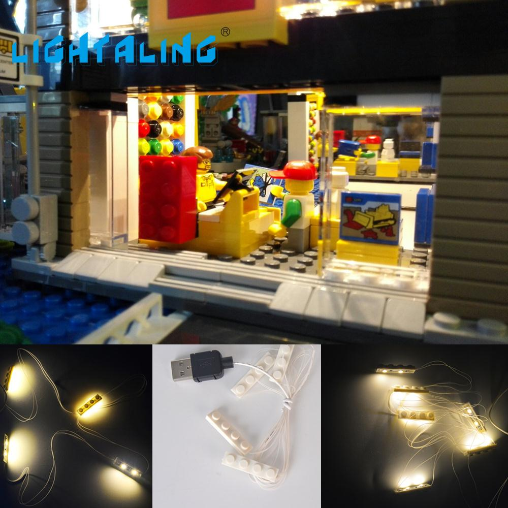 Lightaling LED Light Bricks Kit Can Decorate All Blocks Building Creator House Building Blocks Model Toys lightaling led light set compatible with brand camping van 10220 building model creator decorate kit blocks toys