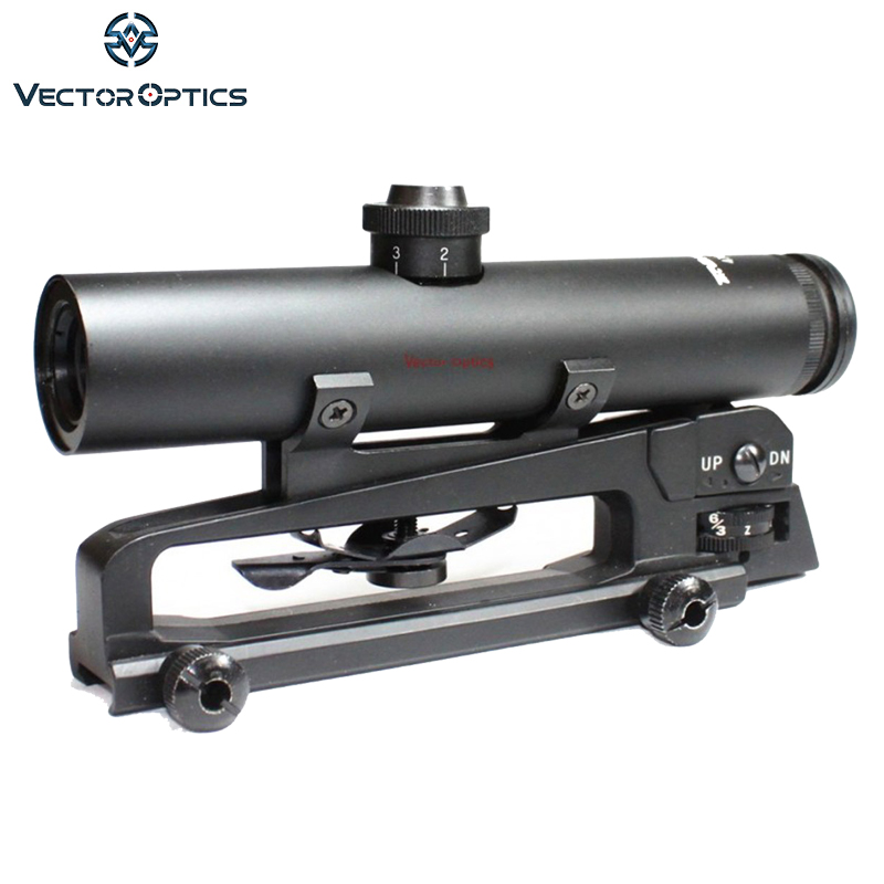 Vector Optics Tactical 4x22 Carry Handle 223 Rifle Scope Shock Proof Electro Sight