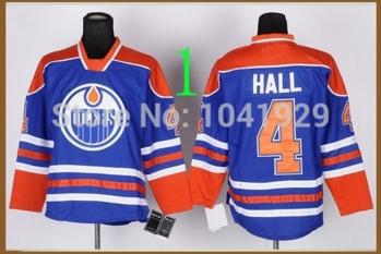 new arrival b0c43 7b121 US $30.0 |Free shipping Men's Ice Hockey Jerseys #4 Taylor Hall Jersey Blue  Authentic Hockey Jersey size 48 56-in Hockey Jerseys from Sports & ...