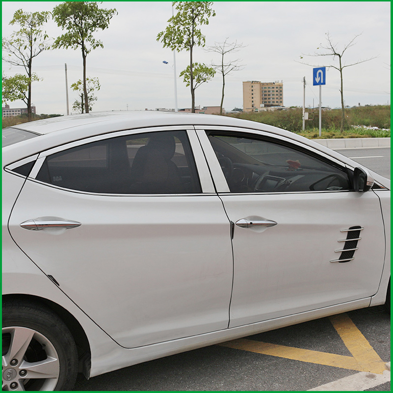 For HYUNDAI ELANTRA MD 2012 2015 Stainless Steel Car Window Trim Sticker Windows Frame Sequin Cover Trim Car styling Accessorie