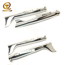 38MM-45MM Universal Motorcycle Exhaust Muffler Pipe Chrome Fish Tail Escape Moto for Vintage Cafe Racer Harley-Davidson Chopper