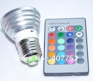 [Sharing Lighting]high power rgb led light,3W E27 Remote Control LED Bulb 16 Color Changing RGB LED Lamp 110V~240V