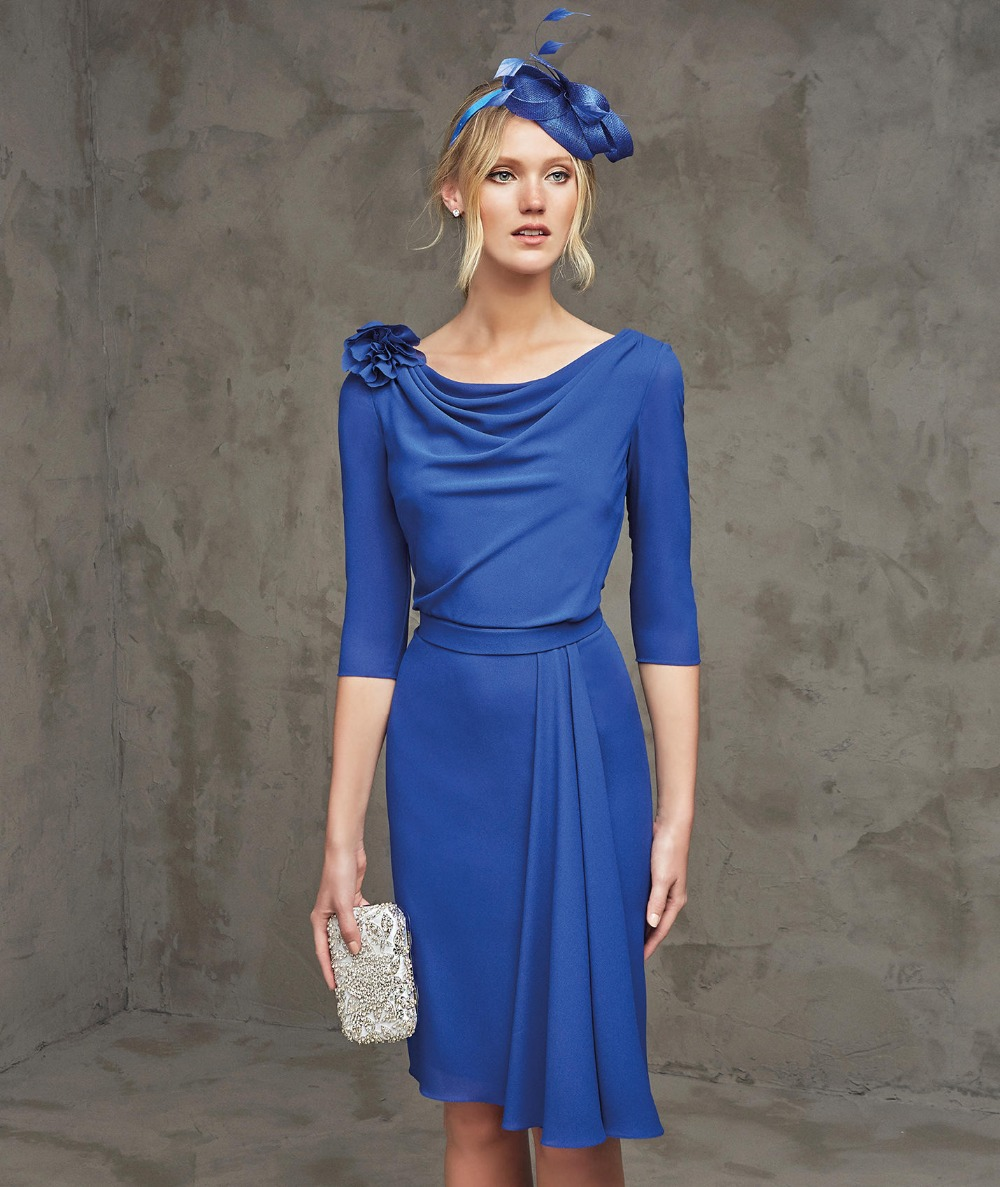 Sapphire Blue Cocktail Dress Promotion-Shop for Promotional ...