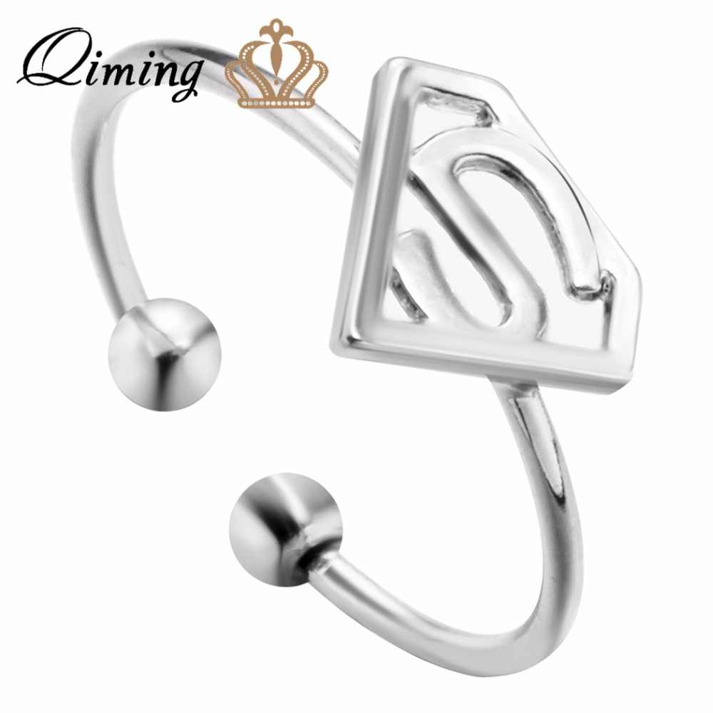 QIMING Min 1 pc Cobweb Ring spider net ring spider web ring spider man Encircle adjustable Women Jewelry Sweet Romantic Gift
