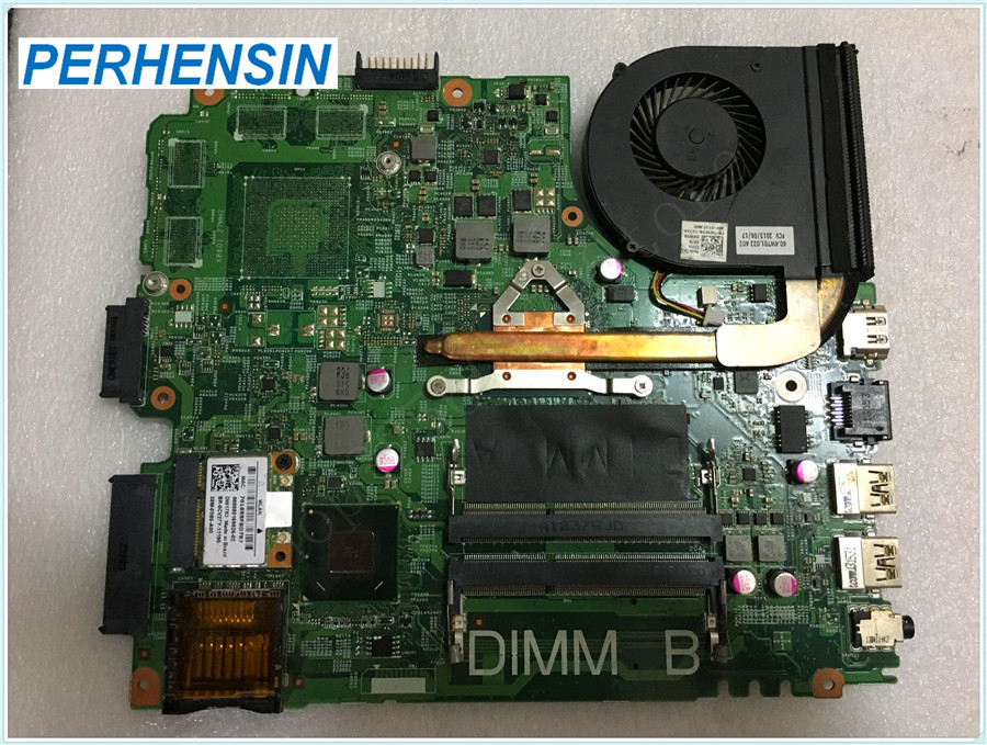 For Dell For Inspiron 14 3421 Laptop Motherboard i3 2375M CPU 5J8Y4 0NCH57 CN-0NCH57 100% WORK PERFECTLY laptop motherboard 12204 1 pwb 5j8y4 for dell 14r 3421 5421 series motherboard cn 05hg8x 05hg8x sr06z ddr3 100