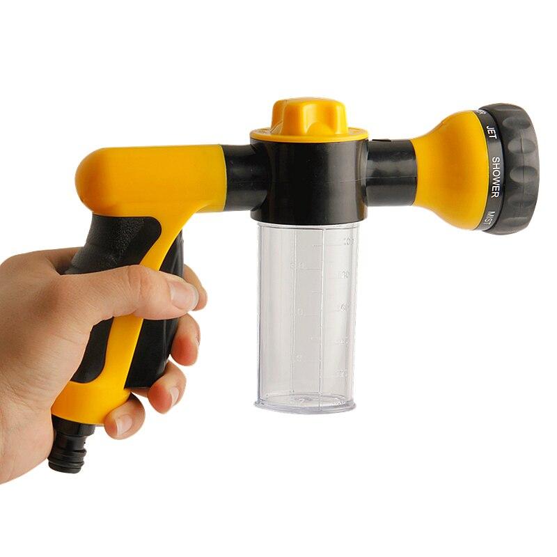 Многофункциональный пистолет для подачи воды из пены, высоконапорная автомобильная мойка, регулируемый водяной пистолет, распылитель, соп...