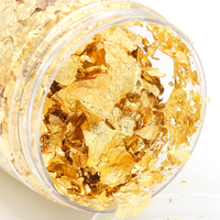 Edible Genuine Gold Leaf Flakes,1g 24K Gold Flakes Facial Mask Decorative,Cooking, Cakes & Chocolates, Decoration, Health & Spa